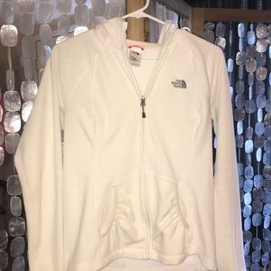The North Face Jackets & Coats - North Face Fleece Hoodie-White